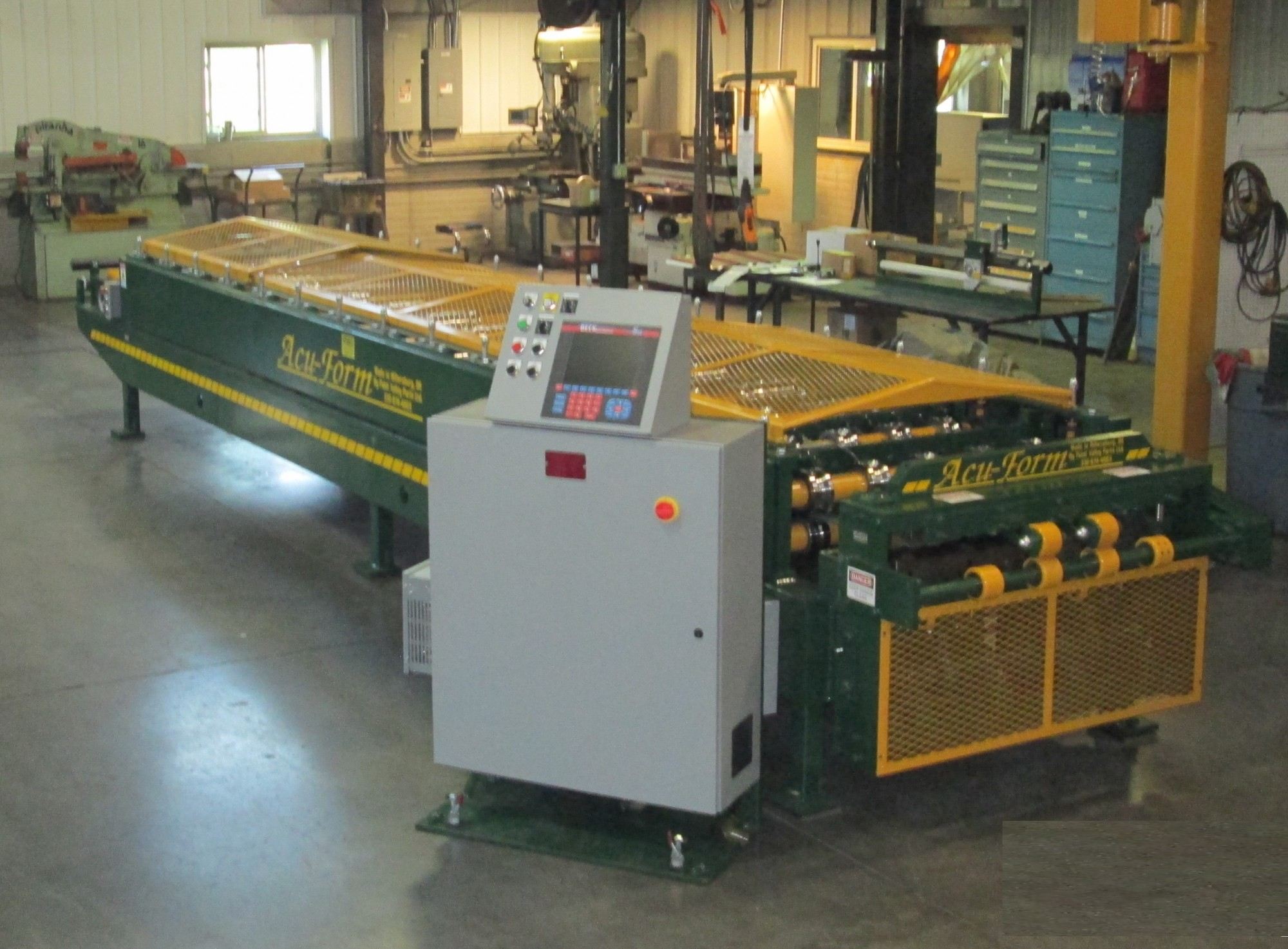 panel lines, acu-form, metal roofing roll formers