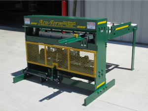 shears, acu-form, metal roofing roll formers